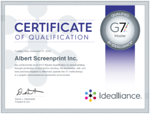G7 2018 Certificate