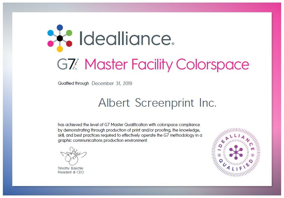 G7 2019 Certificate